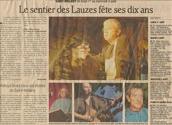 29 juillet 2011-Le Dauphiné Libéré-Le sentier des Lauzes fête ses 10 ans
