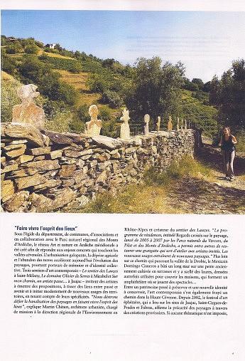 Juin 2008 - Le Dauphiné Libéré - Hors-sérieL'art fait son chemin