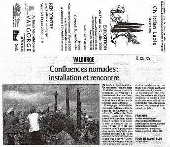 11 juin 2008 - Christian Lapie Confluences nomades installation et rencontre