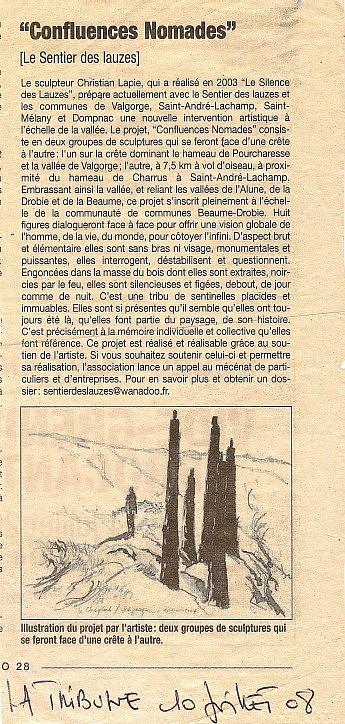 10 Juillet 2008 – La Tribune - Christian LapieConfluences Nomades