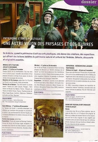 Août 2008 – Relief, le journal du Conseil Général 07 - Une autre vision du paysage et des oeuvres