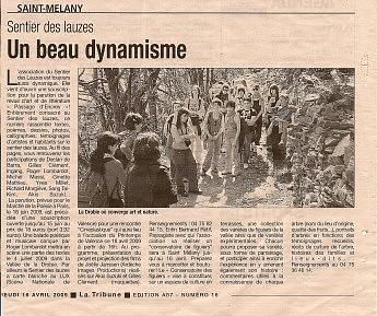 16 avril 2009 - La Tribune - Un beau dynamisme