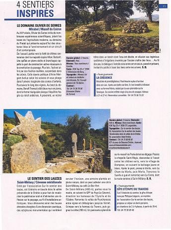 Juin 2008 – La lettre culturelle du conseil général 07 – page 12 - Présentez-vous