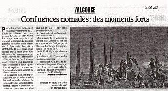 16 juin 2008 - Confluences nomades : des moments forts
