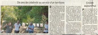 3 août 2011 - Le Dauphiné Libéré - Dix ans de créativité au service d'un territoire